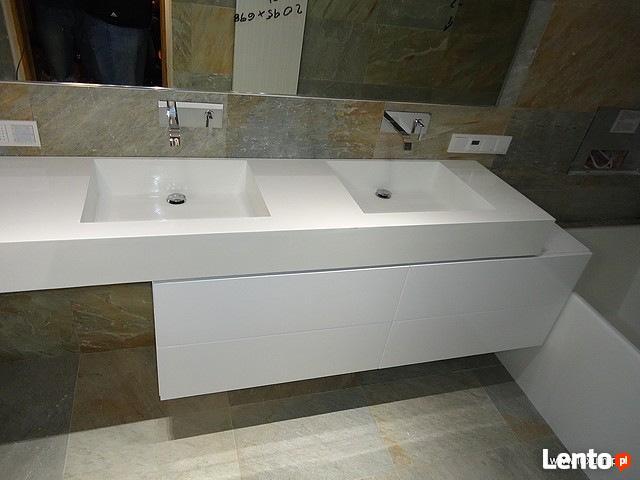 Umywalki podwójne z blatem Umywalka na wymiar Corian Staron