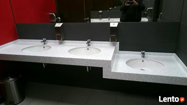 Blaty kompozytowe umywalki wanny brodziki CORIAN STARON itp