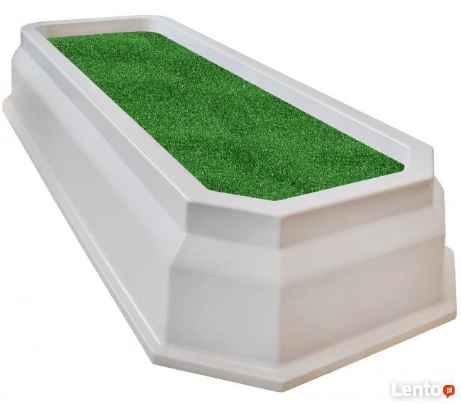 obrzeże grobu, nagrobek plastikowy, obudowa grobu