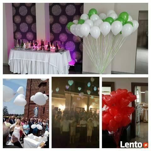 balony LED na wesele - dowóz na całym Śląsku