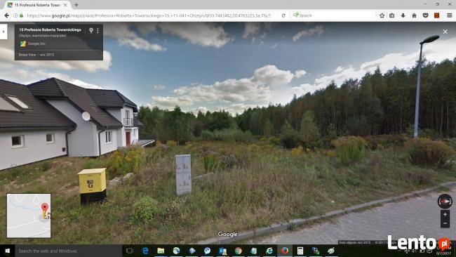 Dzialka Budowlana Olsztyn, Osiedle Brzeziny 834m2