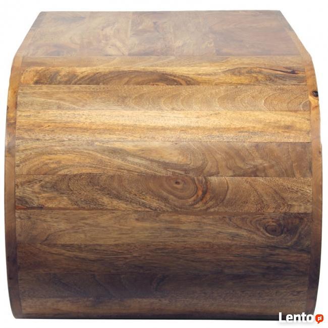 drewniany nowoczesny stolik kawowy ława oryginalny kształt