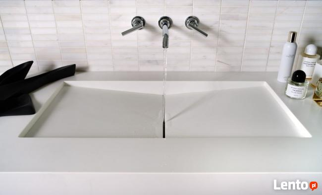 BLATY KOMPOZYTOWE umywalki z blatem Corian Staron Krion GFK