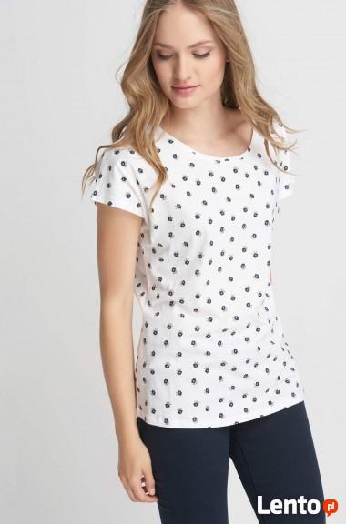 Biały t-shirt z nadrukiem Orsay