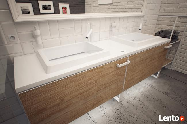 Kompozyty solid surface Corian Staron Krion - blaty umywalki