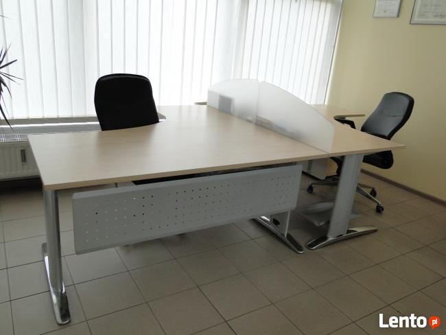 maro duże narożne biurko biurka meble biurowe pozna�