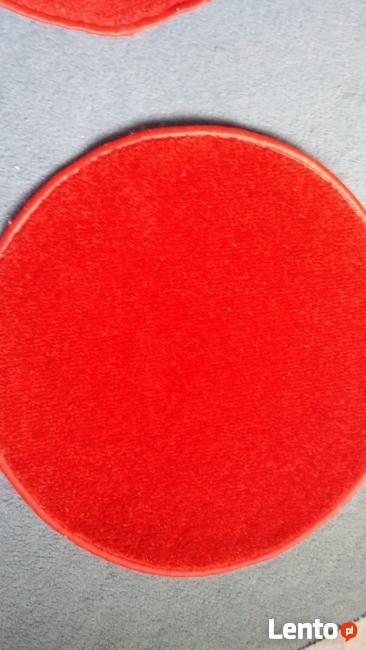 dywaniki okrągłe czerwone 2 szt. 57,5 cm cena za komplet