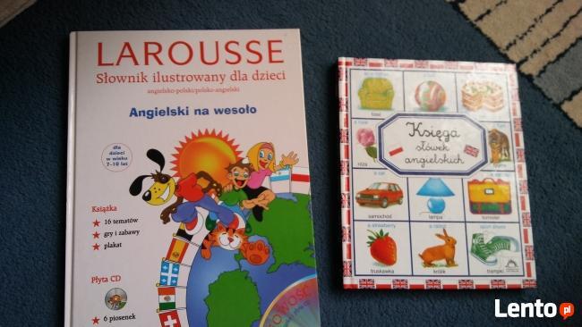 słownik angielski ilustrowany dla dzieci i księga słówek ang