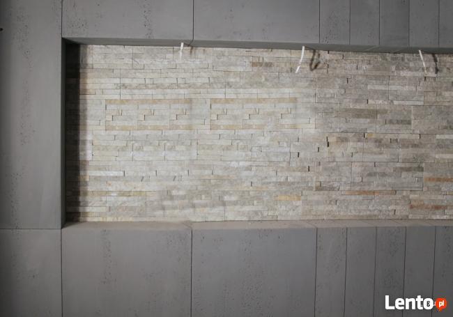 Płyta betonowa na ścianę. Beton dekoracyjny w płytach Luxum.