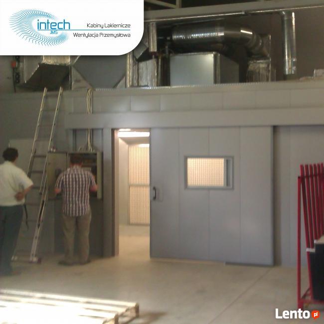 Nowoczesna architektura Kabina lakiernicza Intech JMS- wizyta konsultanta, ściana Bydgoszcz DR46