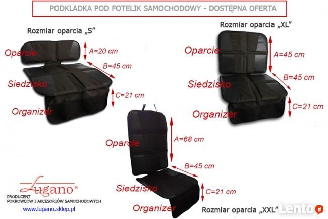 PODKŁADKA pod fotelik samochodowy - Organizer