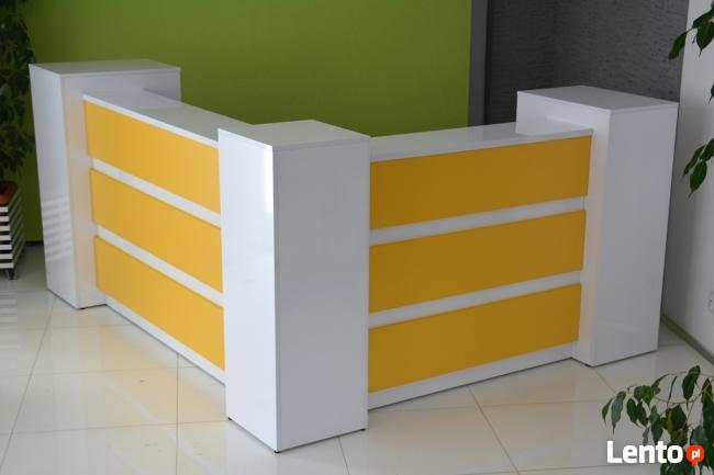 Reprezentacyjna lada recepcyjna R43 na wymiar różne kolory