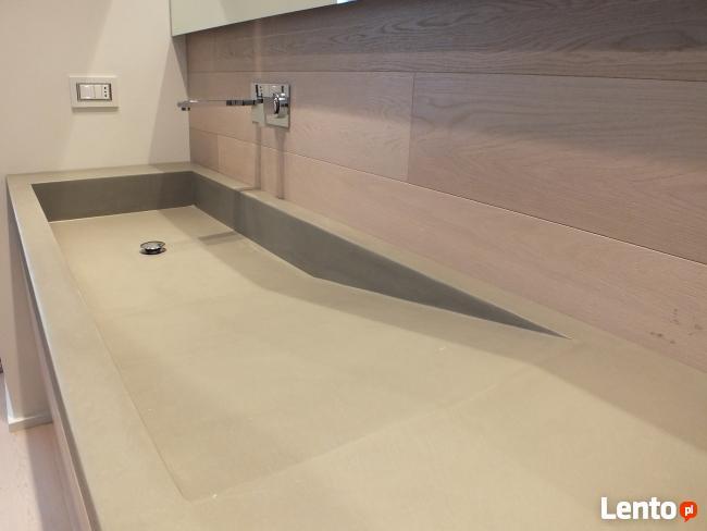 Umywalki betonowe. Lekkie umywalki z betonu na wymiar Luxum