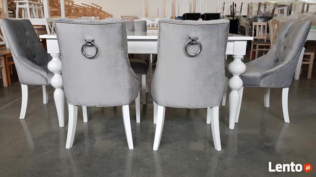 Krzesło pikowane z kołatką i pinezkami Nowe Glamour