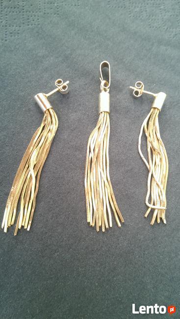 Srebrne kolczyki oraz srebrna zawieszka na łańcuszek