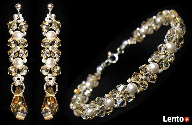 Komplet Ślubny Swarovski Crystal