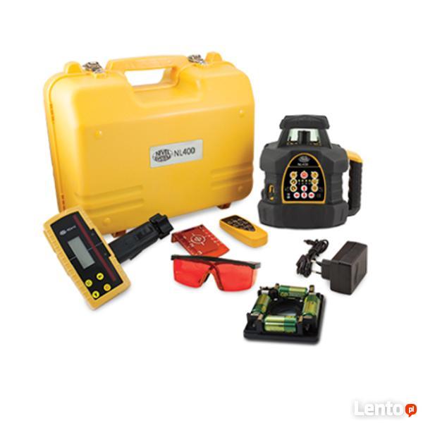 Niwelator laserowy, rotacyjny, obrotowy laser +łata i statyw