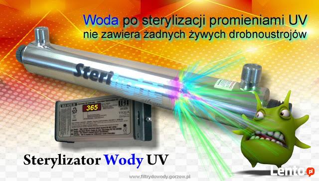 Usuwanie z wody bakterii E-coli promieniami UV SULĘCIN