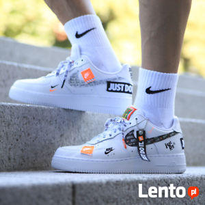 NIKE AIR FORCE 1 07 PRM JUST DO IT AR7719-100 roz. Eur 45,5