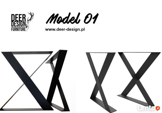 Nogi do stołu industrialnego loft stelaż stalowy Deer-Design