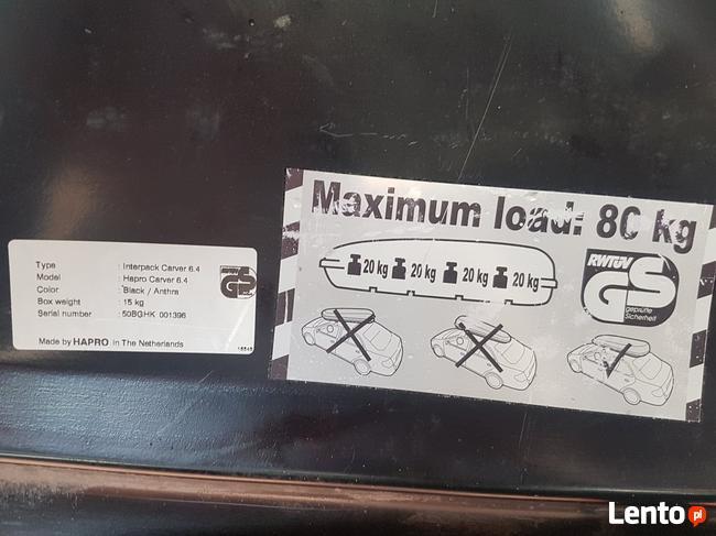 BOX dachowy InterPack 440L wynajmę wypożyczę do wynajęcia