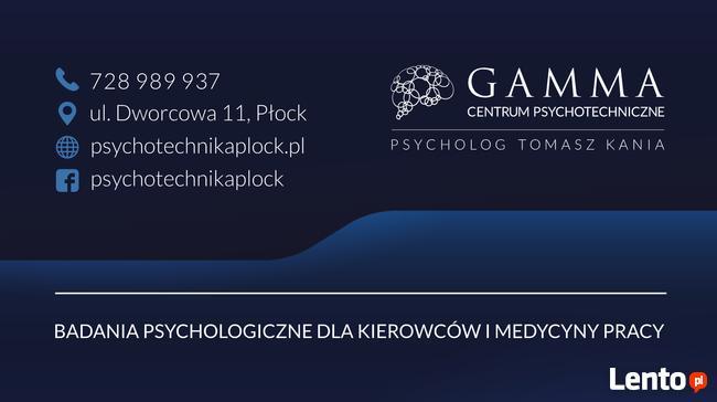Badania Psychologiczne dla Kierowców - GAMMA Płock