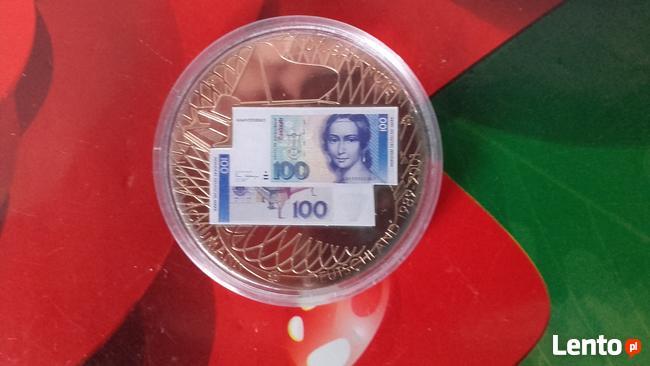 Pamiątkowa moneta - medal pożegnania waluty 100 marek