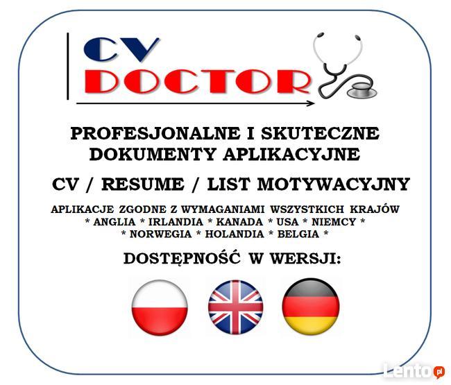 PROFESJONALNE CV i LM - Język Polski i Angielski - od 80 zł