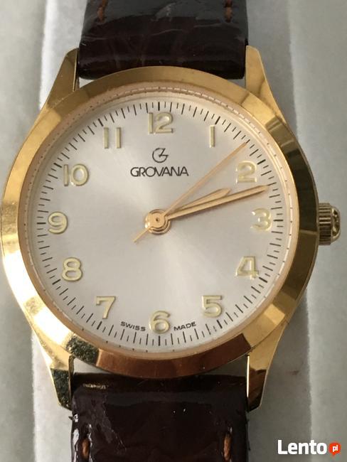 Damski szwajcarski klasyczny zegarek Grovana- real foto