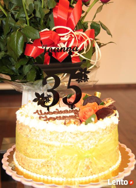 Topper na tort urodzinowy, dekoracja na ciasto.