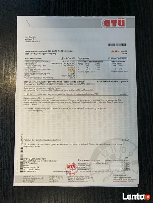 Chevrolet Kalos 85 TYS.KM/KLIMA SPRAWNA/DRUGI KPL.KÓŁ