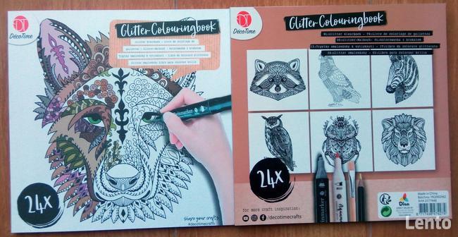 Zwierzęta Antystresowa kolorowanka kreatywna z brokatem