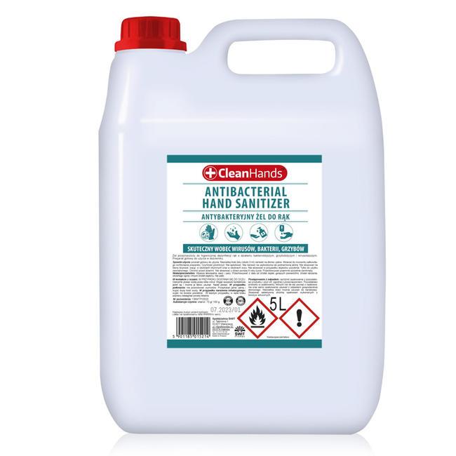 Żel do dezynfekcji rąk Cleanhands 5l Ładny delikatny zapach