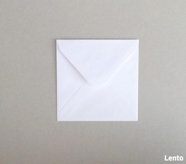 małe koperty kwadratowe, koperty na podziękowania dla gości