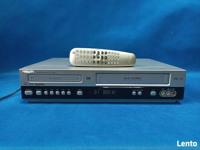 Combo DVD / VHS Philips DVD-755VR / 6 głowic/Pilot