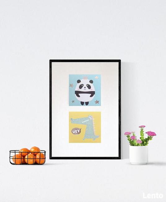 zwierzęta plakat dla dzieci, pastelowy plakat a4