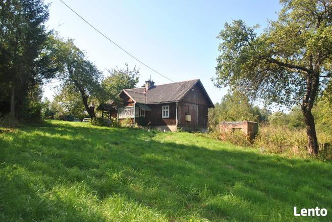 Drewniany domek koło Jasła miejscowość Łaski