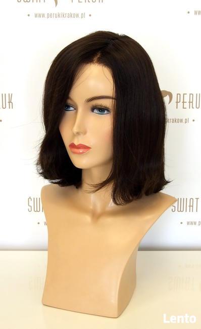 Półdługa peruka z włosa naturalnego Lublin