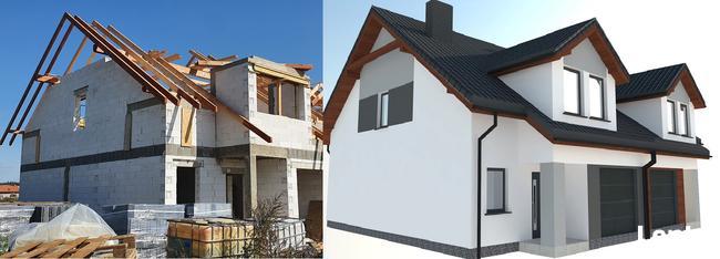 online Projekt elewacji 2d/3d wizualizacja elewacji domu