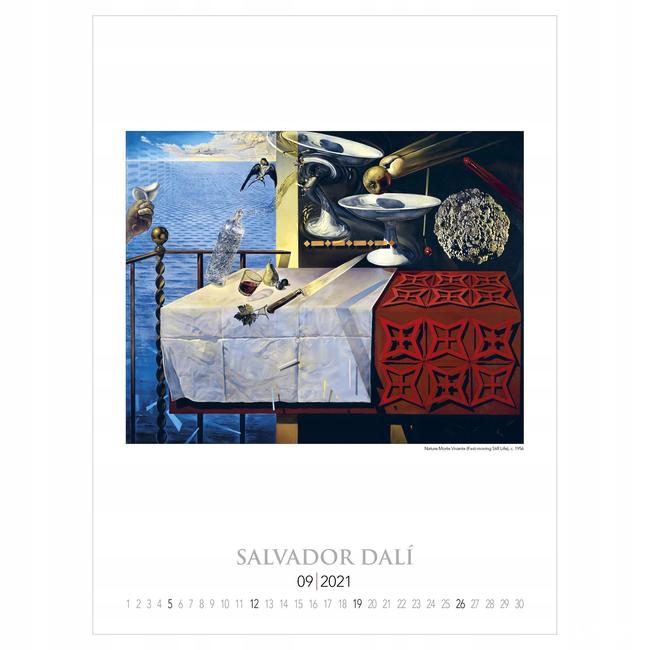 Salvador Dali reprodukcje duży kalendarz 2021