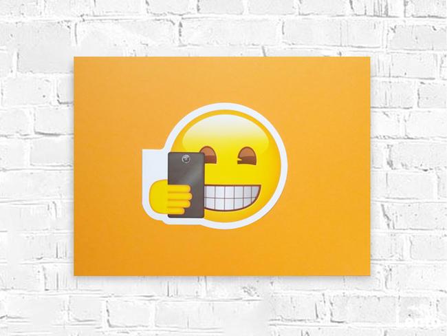 wesoły plakat a3, emoji grafika na scianę 30x40