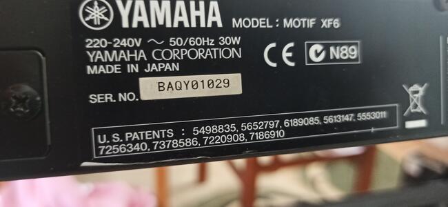 Syntezator Yamaha Motif XF 6