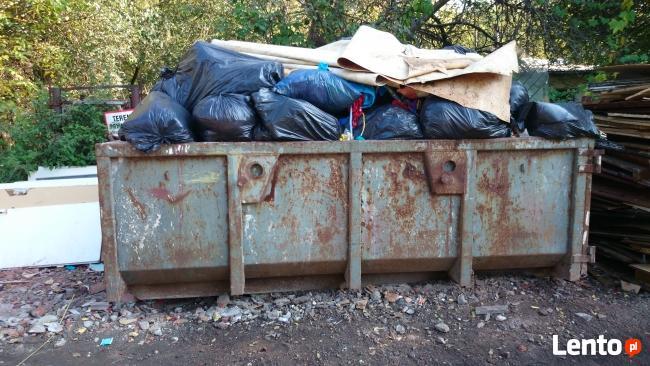 Kontenerowy wywóz odpadów śmieci gruzu Vector
