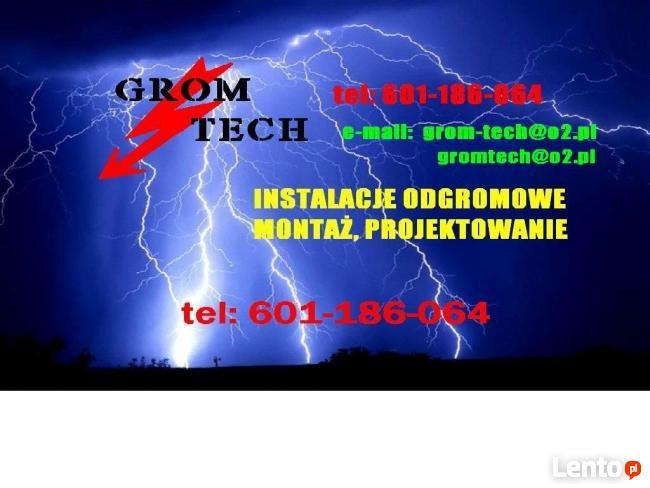 Instalacja odgromowa piorunochronKRAKÓW od 2200zł 601186064