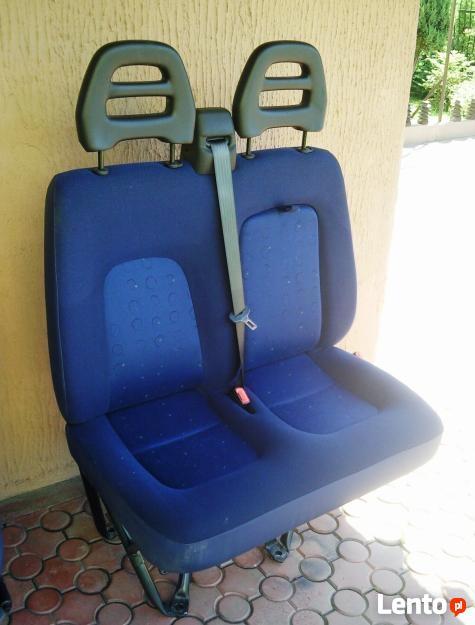 Fotel pasażera kanapa siedzenie 2 osobowe FIAT DUCATO 02-06
