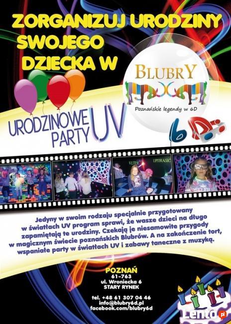 Urodziny dla dzieci - PARTY UV Blubry6D