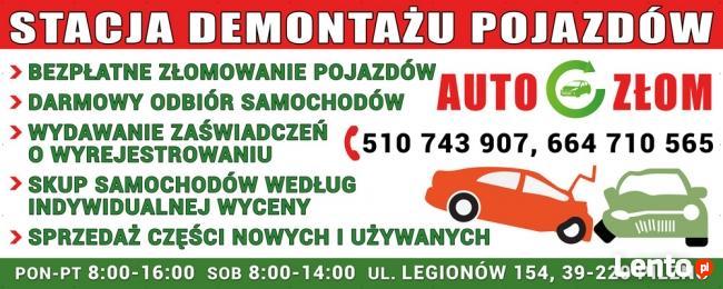 Kasacja Pojazdów, sprzedaż części samochodowych używanych