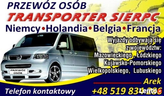 Przewóz osób, Słupia, Busy do Holandii, Belgia, Niemcy