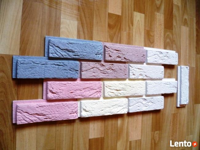 Kamień Dekoracyjny Ozdobny Naturalny Cegła z FUGĄ - PANEL 3D