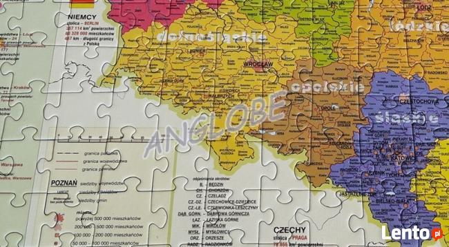 PUZZLE EDUKACYJNE - Mapa Polski - polska produkcja, JAKOŚĆ